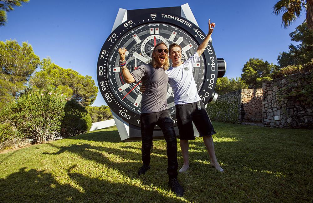 Гетта и Гаррикс рекламируют часы
