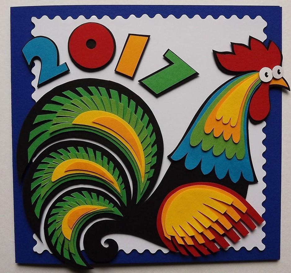Летчику, открытка на новый год своими руками год петуха