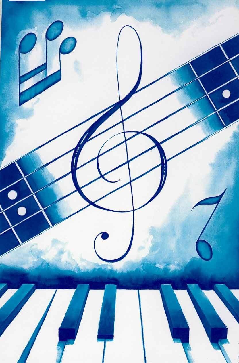 Открытки на тему музыки, открыткой именинами открытки