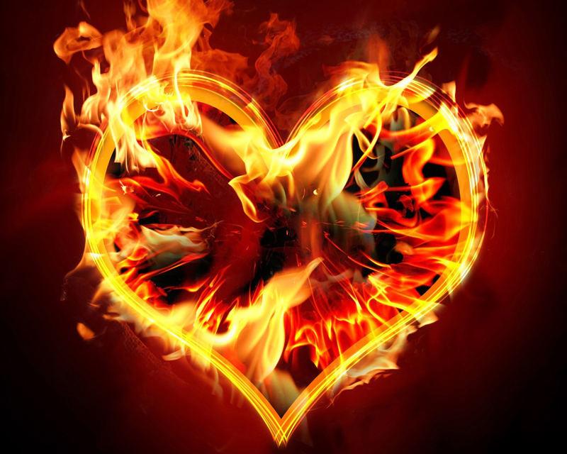 Открытки любимой с огнем, надписи